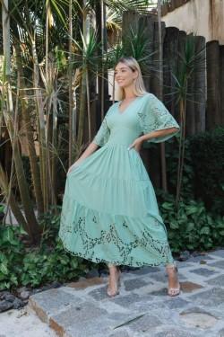 Vestido Sofia Verde Marie Mercié