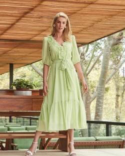 Vestido Chiffon Luzia Fazzolli