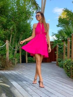 Vestido Joana Pink Cloude