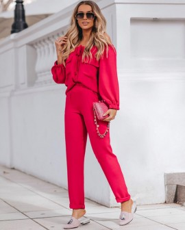 Conjunto Pink Blusa e Calça Blessed
