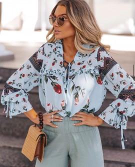 Blusa Estampada Floral Blessed