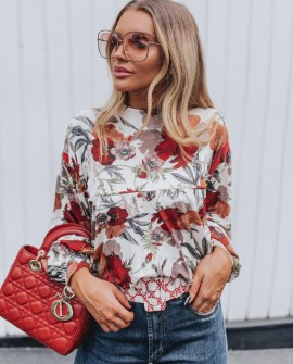 Blusa Floral Print Blessed