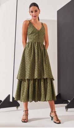 Vestido de Alcinha em Renda Verde Zen