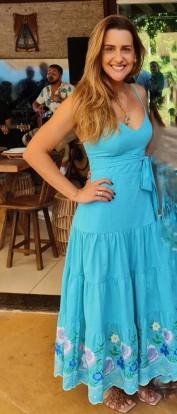 Mariana Vestido Azul Marie Mercié