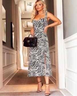Vestido Estampado Zebra Olívia