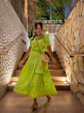 Conjunto Eva Verde Neon Bambola