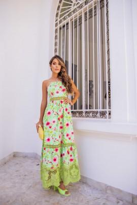 Alexia Vestido Longo Bordado Marie Mercié