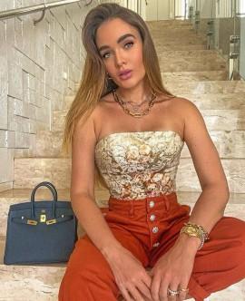Top Floral Priscila Faria