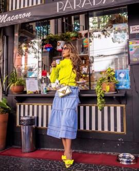 Saia Midi Jeans Hush by Rosana