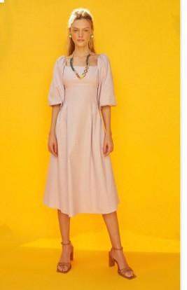 Vestido Linho Louise Natural Zen