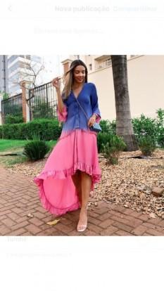 Vestido Tie Dye Rosa Aquarella