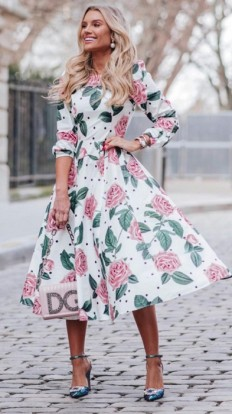 Vestido Midi Rosas Blessed