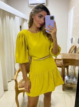 Vestido Amarelo Mais um