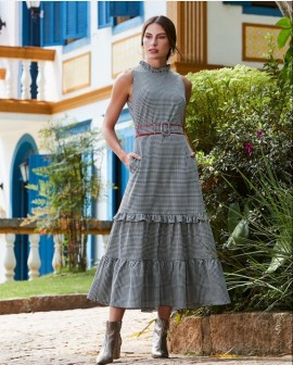 Vestido Alfaiataria Xadrez Luzia Fazzolli