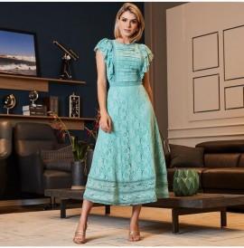 Vestido Renda Com Entremeio Luzia Fazzolli