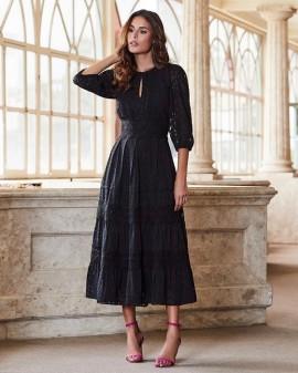 Vestido Chif Renda Luzia Fazzolli